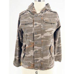 Capsule Boys Gray Camouflage Camo Size S Jacket